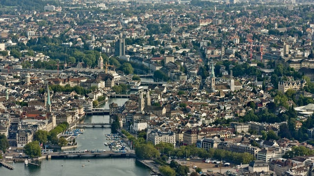 Vogelperspektive: Ein Blick auf Zürich