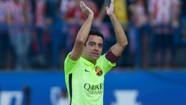 Xavi verabschiedet sich vom Publikum
