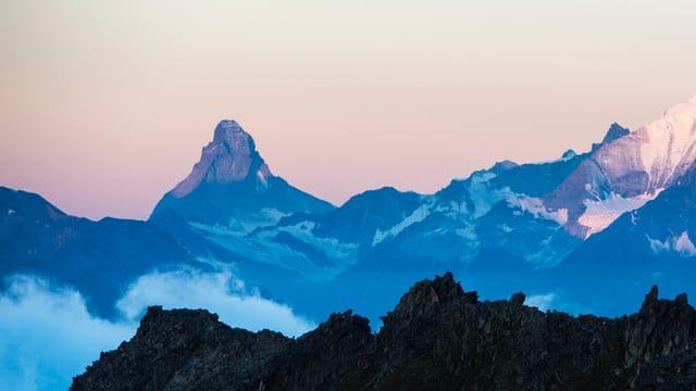 Blick auf die beiden Berge.