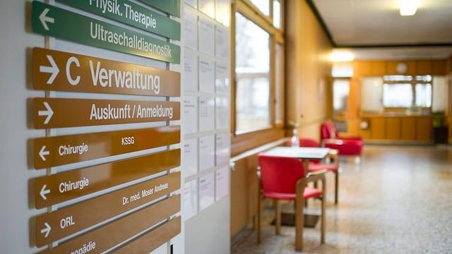 Eingangsbereich Spital Appenzell