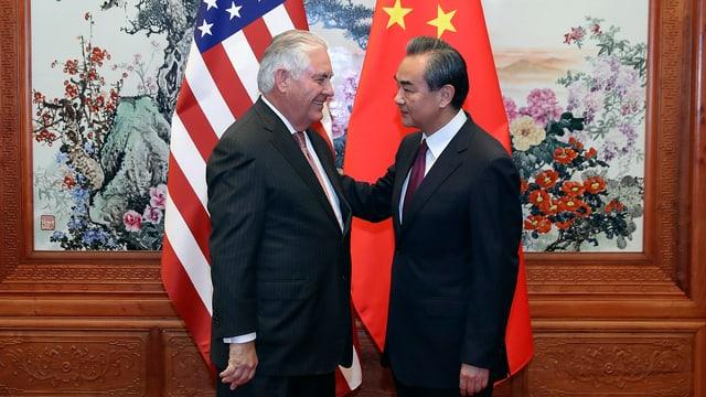 Tillerson und Wang Yi.