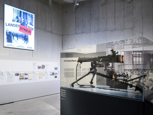 Die Ausstellung des Landesmuseums widmet sich dem Landesstreik von 1918.