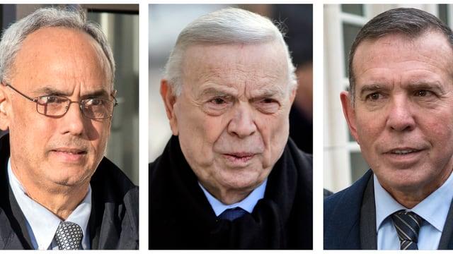 Drei Männerköpfe.