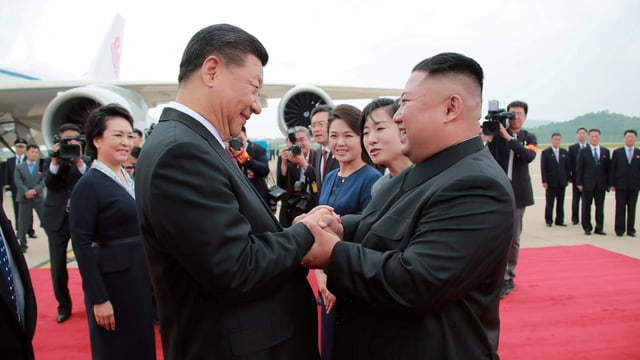 Xi Jinping und Kim Jong-un