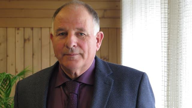 Porträt von Christian Rubin, abtretender Regierungsstatthalter.