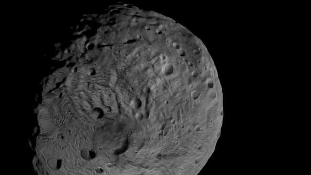 Der Asteroid Vesta, der von der Nasa-Raumsonde Dawn aufgenommen wurde.