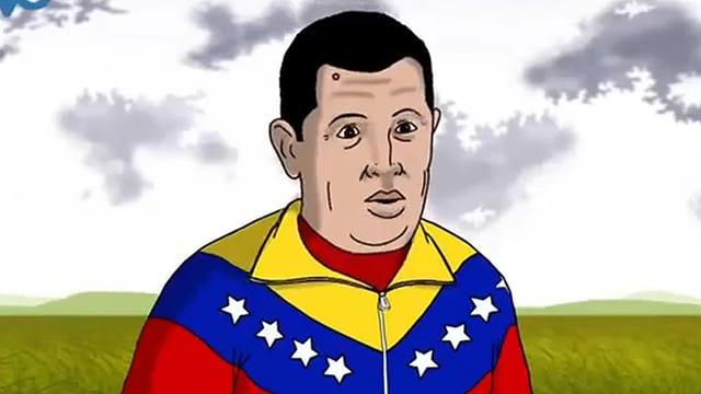 Chavez im Zeichentrickfilm