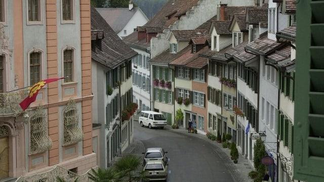 Eine Strasse in der Altstadt von Bischofszell.