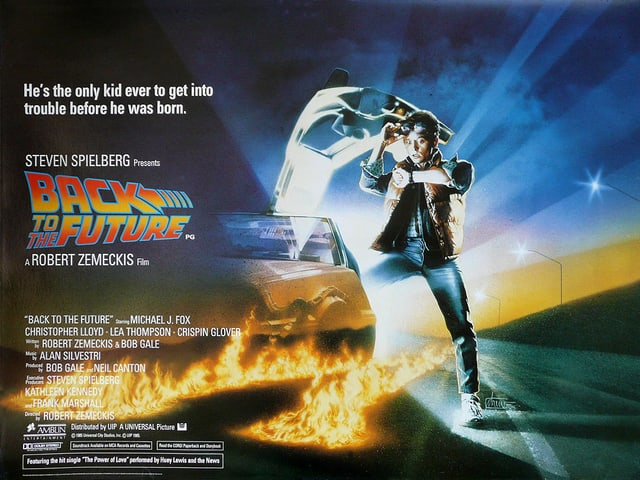 Das Kinoplakat von «Back To The Future».