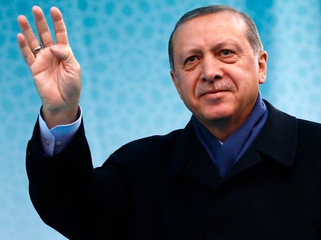 Porträt von Recep Erdogan.