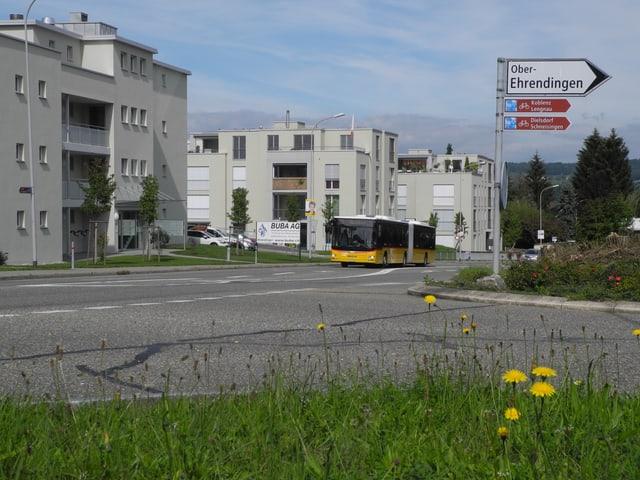 Strassenwegweiser nach Oberehrendingen