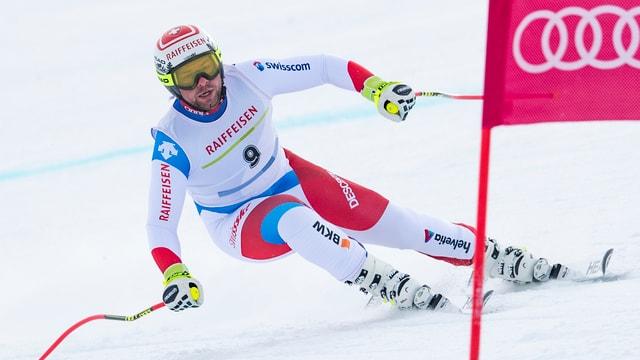 Beat Feuz durant la cursa rapida dals campiunadis svizzers a Tavau.