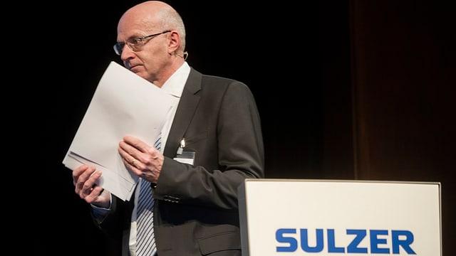 Klaus Stahlmann, CEO Sulzer