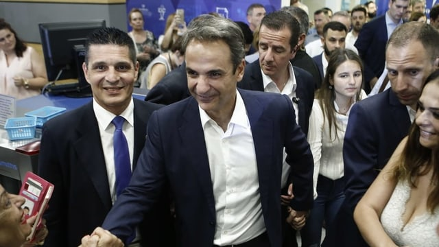 Il nov primminister da la Grezia, Kyriakos Mitsotakis.