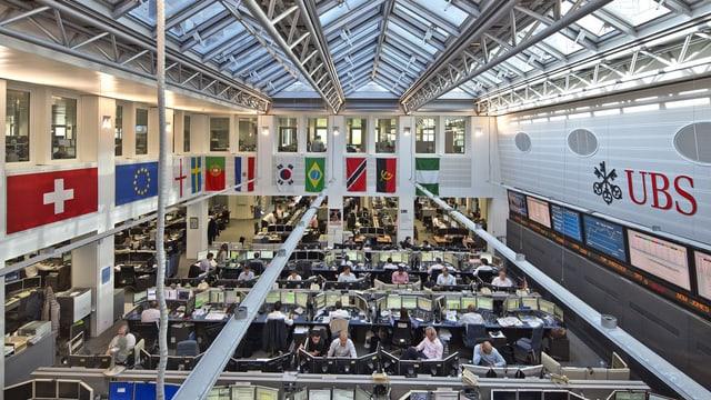 Trading-Halle der UBS.