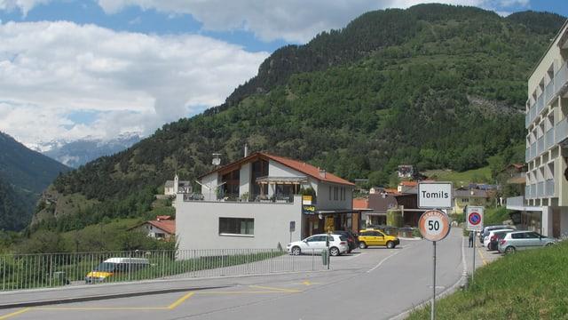 Dorfeingang von Tomils