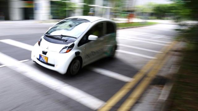 Ein selbstfahrendes Auto.