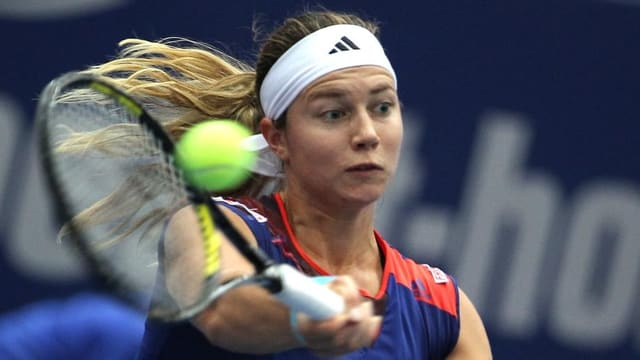 Stefanie Vögele steht in Luxemburg im Viertelfinal.