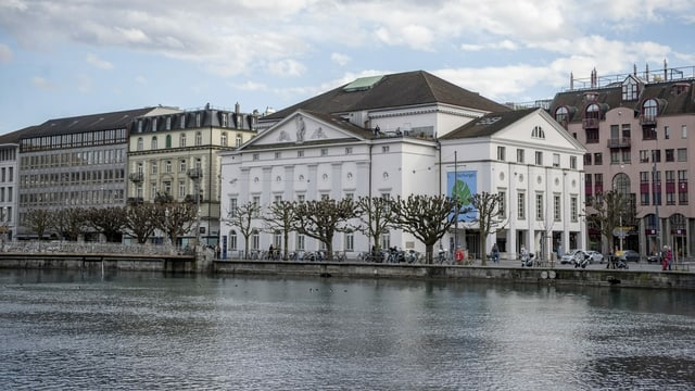 Aussenansicht des Luzerner Theaters an der Reuss