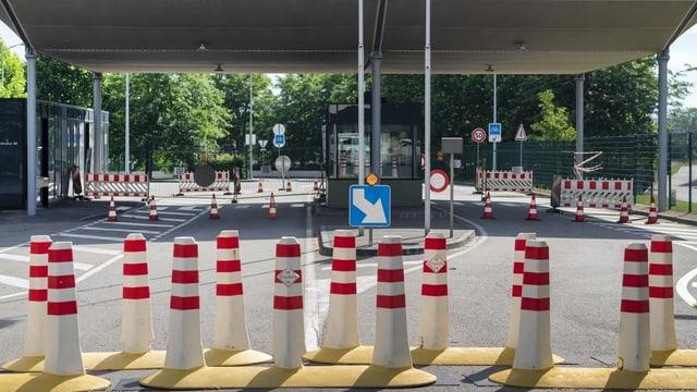 Ein Grenzübergang in Basel, der nach Frankreich führt.