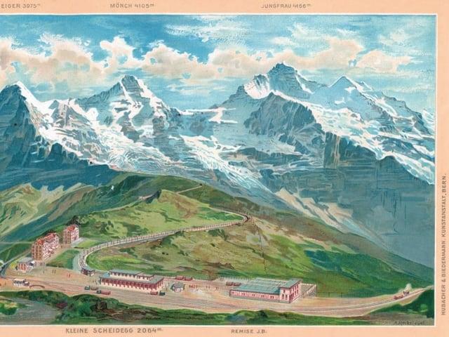 Postkarte-Jungfraujoch.