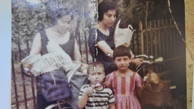Egidio Stigliano mit vier Jahren zusammen mit seiner Schwester zu Besuch in Altstätten SG