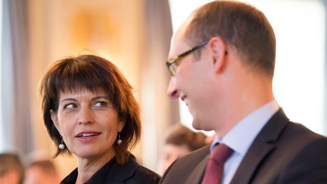 Martin Candinas zusammen mit Bundesräton Doris Leuthard.