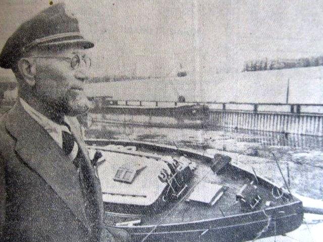 Kapitän Giuntini vor seiner Hochsee-Ketschjacht «Djinn III».