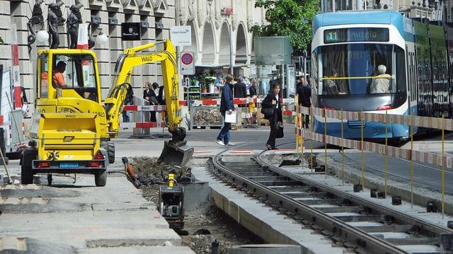 Die Bahnhofstrasse ist momenat eine Baustelle