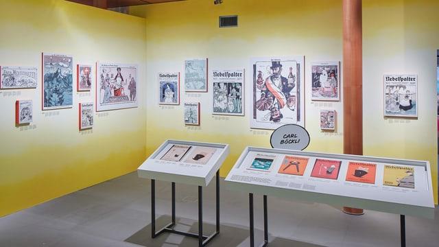 Die Ausstellung zeigt Zeitungsausschnitte.