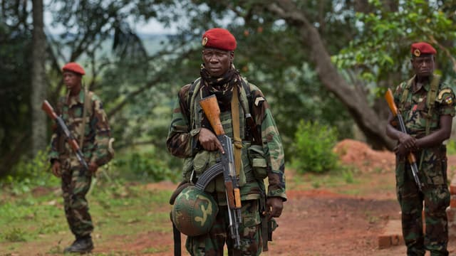 Soldaten in der Zentralafrikanischen Republik
