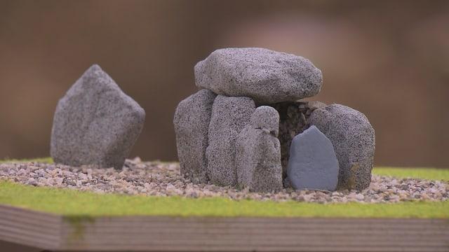 Modell des Dolmengrabes