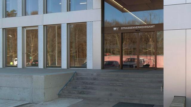 Eingang zum Strassenverkehrsamt in Schafisheim