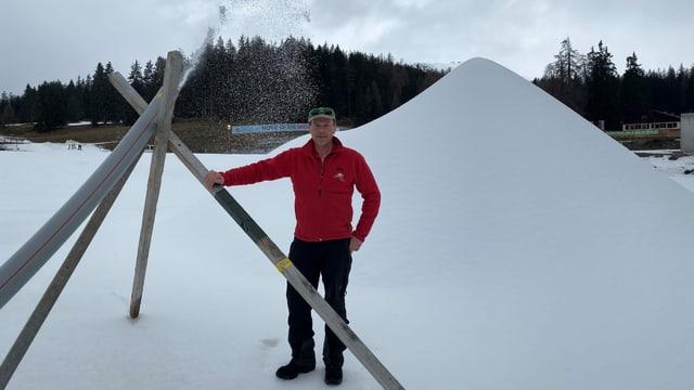 Urs Baselgia, il schef da cursa dal Tour de Ski è led, da pudair producir naiv tecnica era tar temperaturas chaudas.