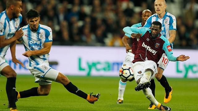 Obiang erzielt für West Ham das 1:0.