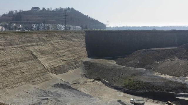 Eine Kiesgrube in Staufen AG.
