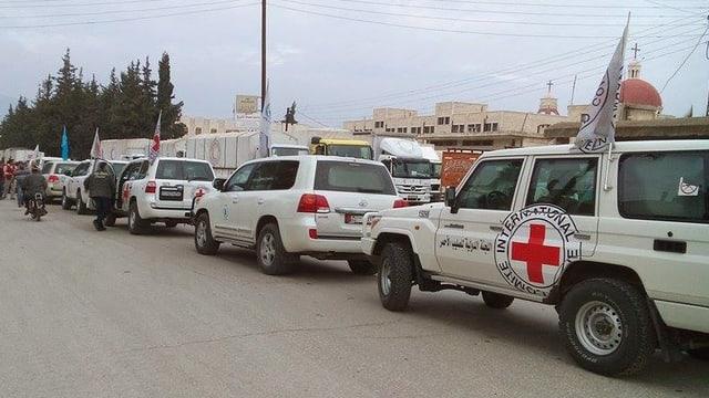 IKRK-Auto in Syriem im Einsatz.