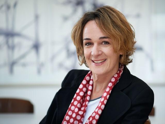 Porträt der Berner Gemeinderätin Ursula Wyss
