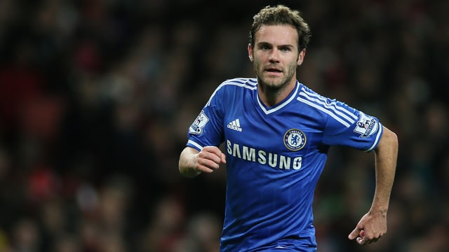 Juan Mata während eines Spiels mit Chelsea.