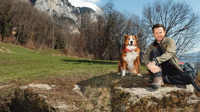 Von 2008 bis 2011 wanderte Nik Hartmann mit seiner Hundedame Jabba «Über Stock und Stein».