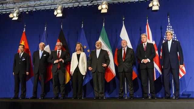 Ils ministers da l'exteriur dals pajais ch'èn sa cunvegnids en la dispita d'atom cun l'Iran.