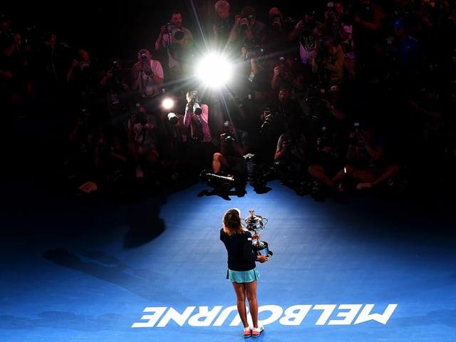 Naomi Osaka bei ihrem Triumph 2019.