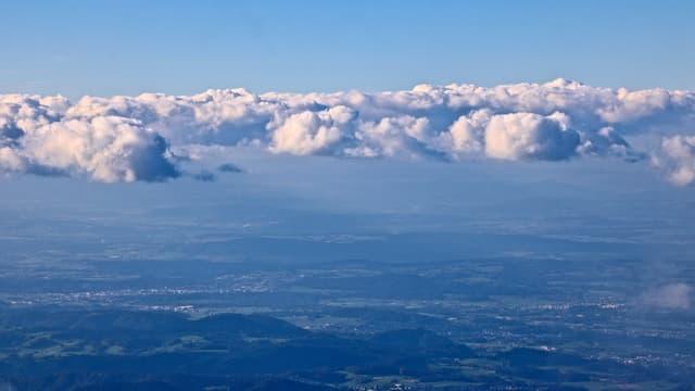 Blick vom Säntis nach Norden.