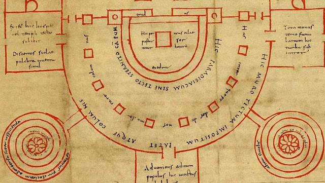 Ausschnitt aus dem St.Galler Klosterplan