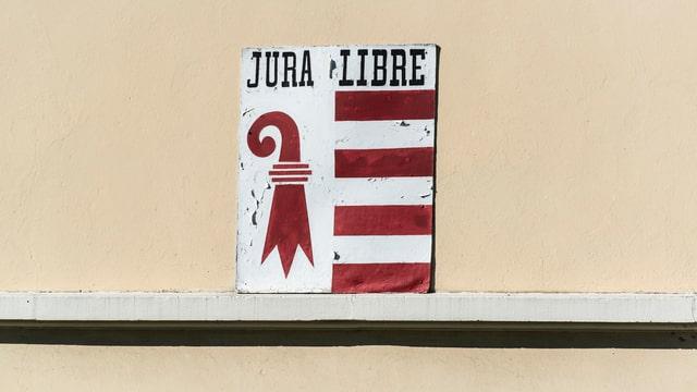 Jura-Wappen mit dem Zusatz Jura Libre