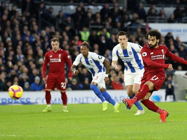 Mo Salah trifft zum 1:0 für die «Reds».