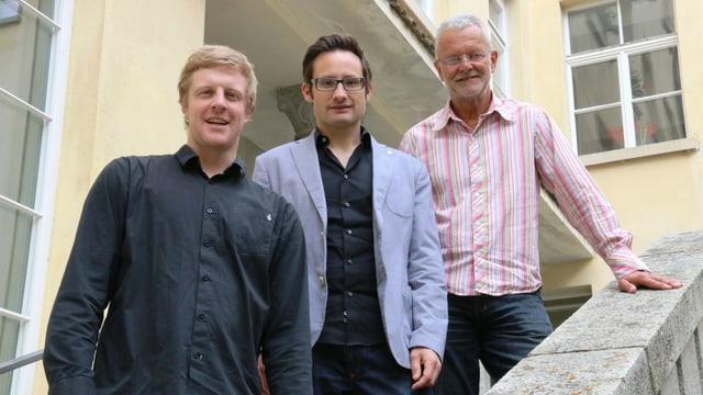 Ils collavuraturs dal Program San Gottardo: Simon Coray, Marc Tischhauser, Hubert Gross (da sen.)