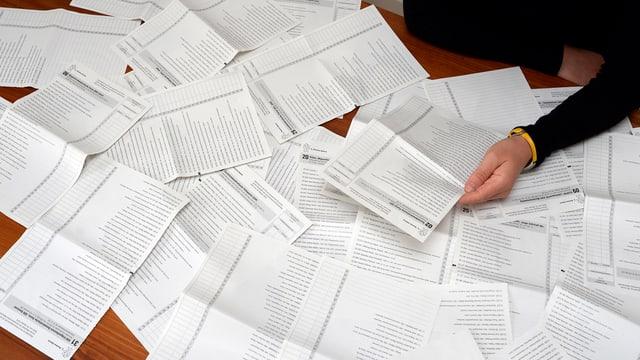 35 Listen bei den Nationalratswahlen im Kanton Zürich. Kleinparteien wie AL, EVP und EdU waren kaum zu finden.
