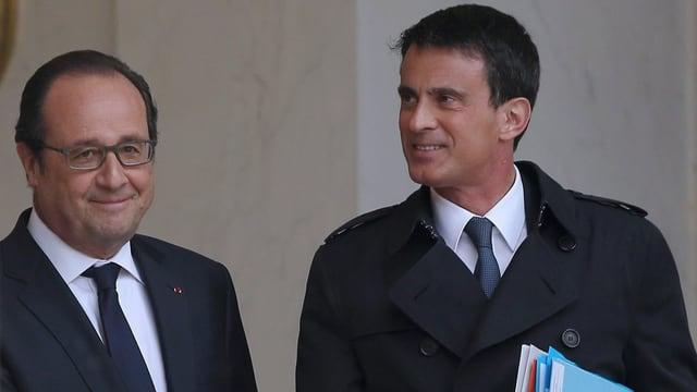 purtet da François Hollande e Manuel Valls
