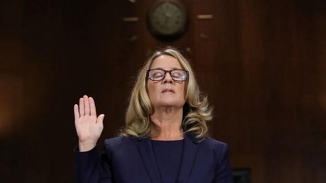 Psychologie-Professorin Ford sagt heute vor dem US-Justizausschuss aus.
